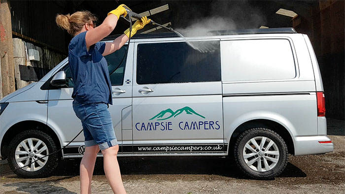 Cleaning Campervans